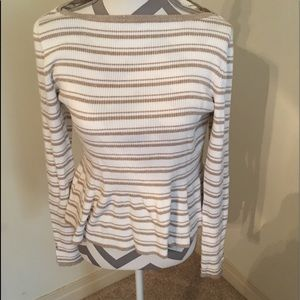 WHBM boat neck sweater